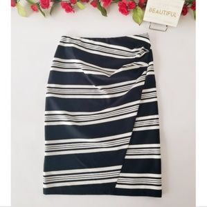 MaxMara navy blue striped pencil skirt